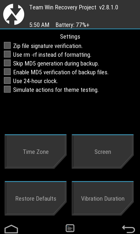 TWRP recovery for galaxy V