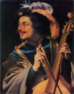 Man with viola da gamba, Gerrit van Honthorst