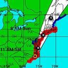 hurricane in the caribbean