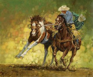 Pinturas de Caballos Saltando y Corriendo