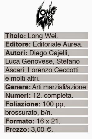 editoriale aurea long wei fumetto lrnz lorenzo ceccotti fumetto diego cajelli luca genovese dati