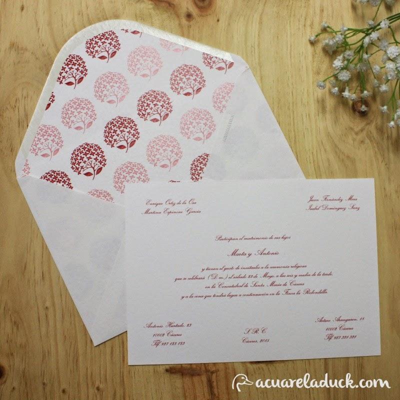 invitaciónes clasicas de boda