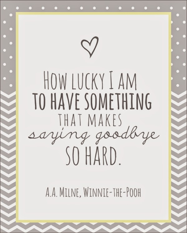 winnie the pooh quote- goodbye