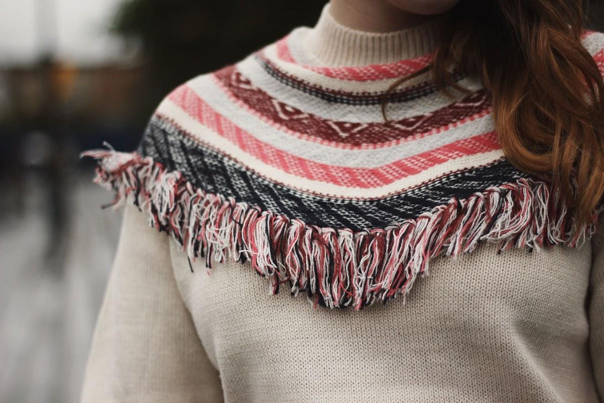 oasis artisan fringed jumper