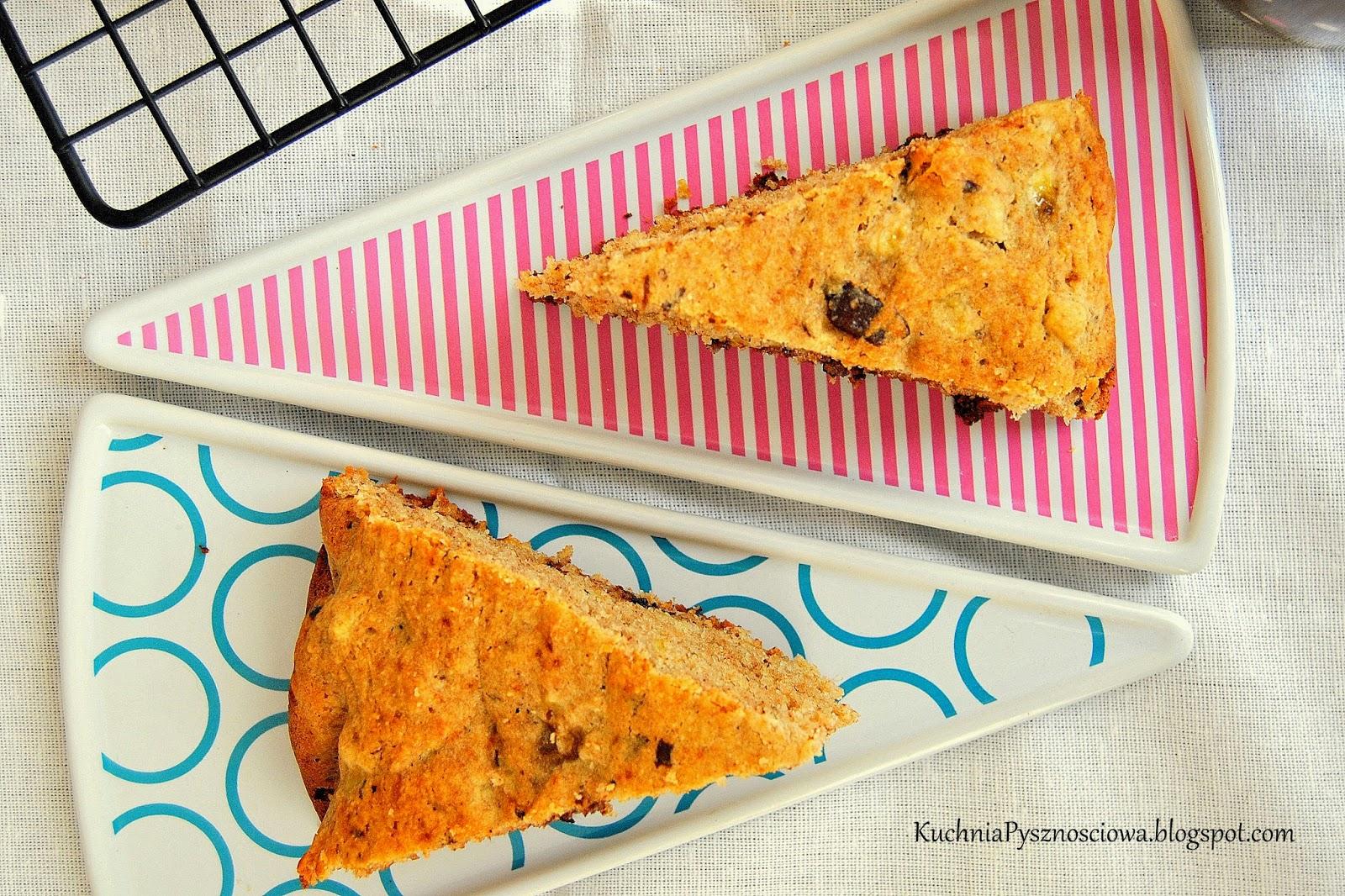 314. Gryczane ciasto bananowe z czekoladą