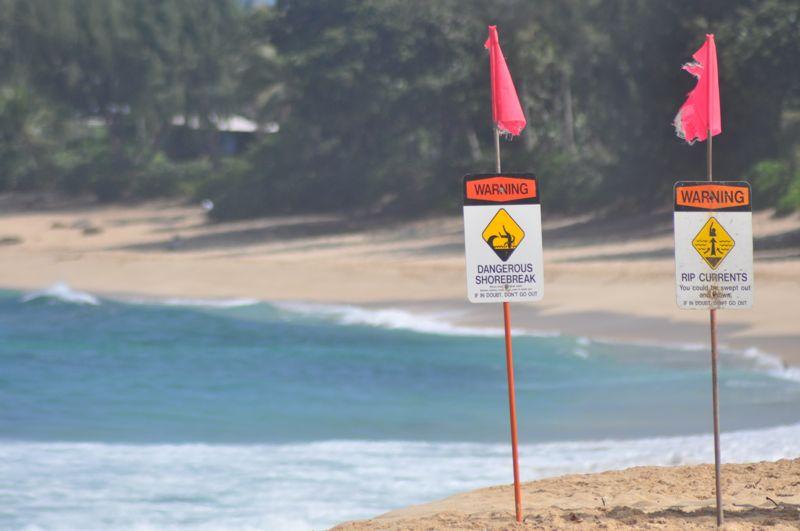 dangerous rip currents