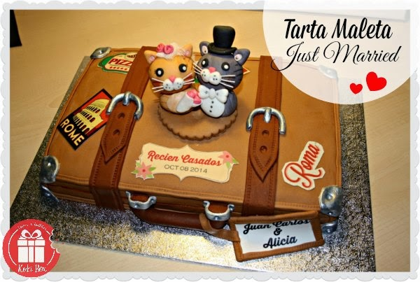 KukiBox - Tarta maleta recien casados