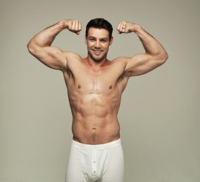 Ben Foden in his boxers