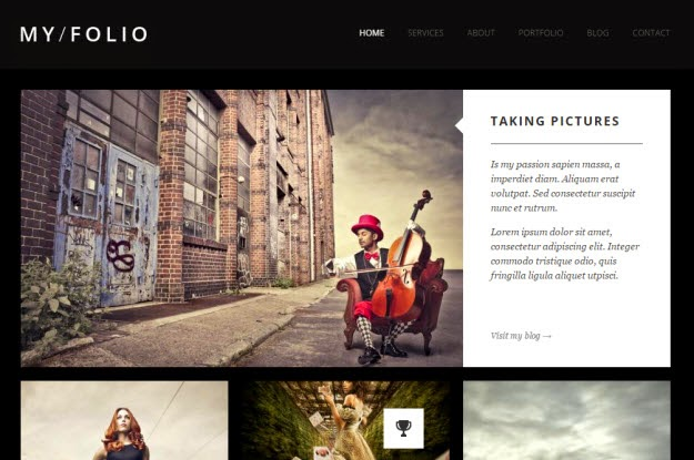 Responsive Drupal Photography Theme