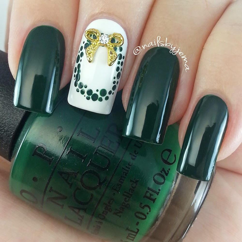 Nails By Jema: Two Different Christmas Wreaths Designs & Tutorials