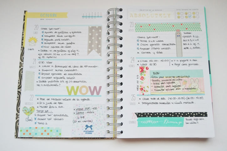 C mo decorar tu agenda mi coqueta bloglovin for Decorar paginas