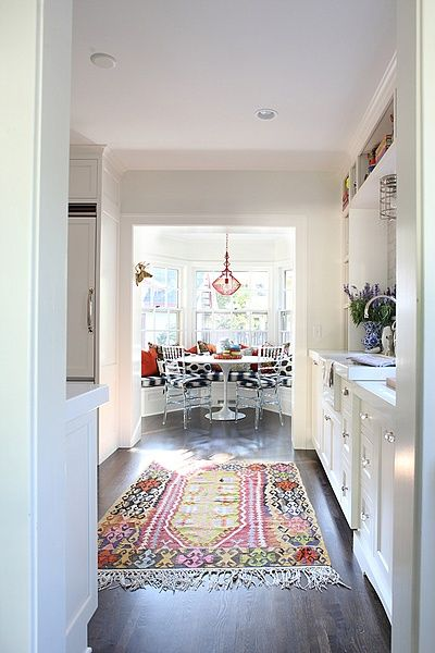 A Perfect Gray Put A Worn Oriental Rug In Your Kitchen Now