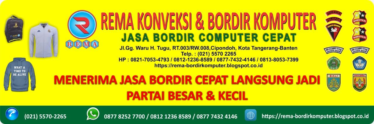 Bordir Komputer - Jasa Bordir Komputer -bordir emblem,bordir kaos,bordir Seragam
