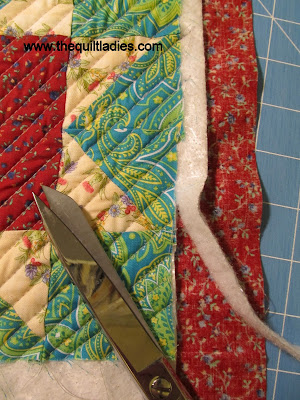 Step by Step How to do Self Binding on a Quilt