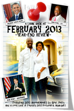 CHECK OUT THIS REVIEW AND LOOK BACK AT FEBRUARY 2013 MADE POSSIBLE BY EDWIN HAYNES