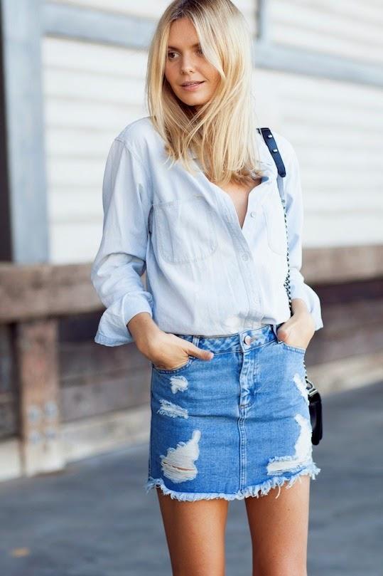 Frayed Jean Skirt - Dress Ala
