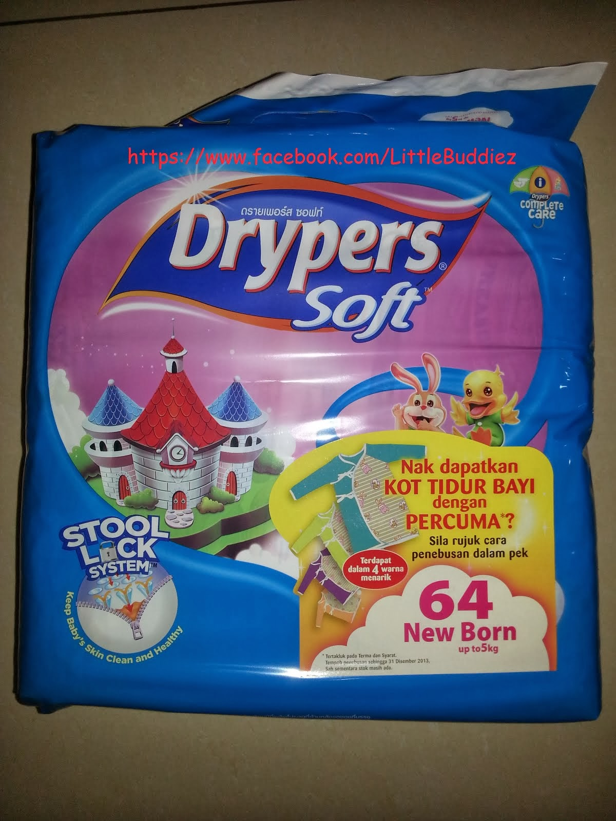Original Drypers Soft (Newborn - up to 5 kg)