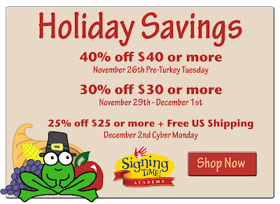 Signing Time Thanksgiving Sale!