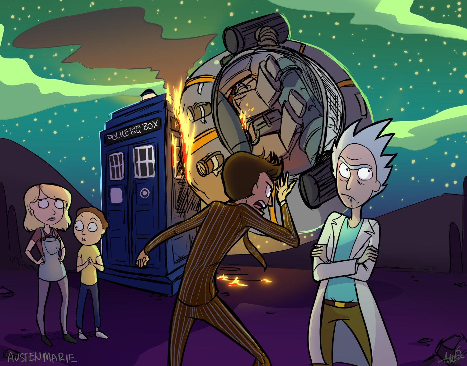 the doctor  doctor who  stumbles across his old enemy rick  rick and morty     whowouldwin