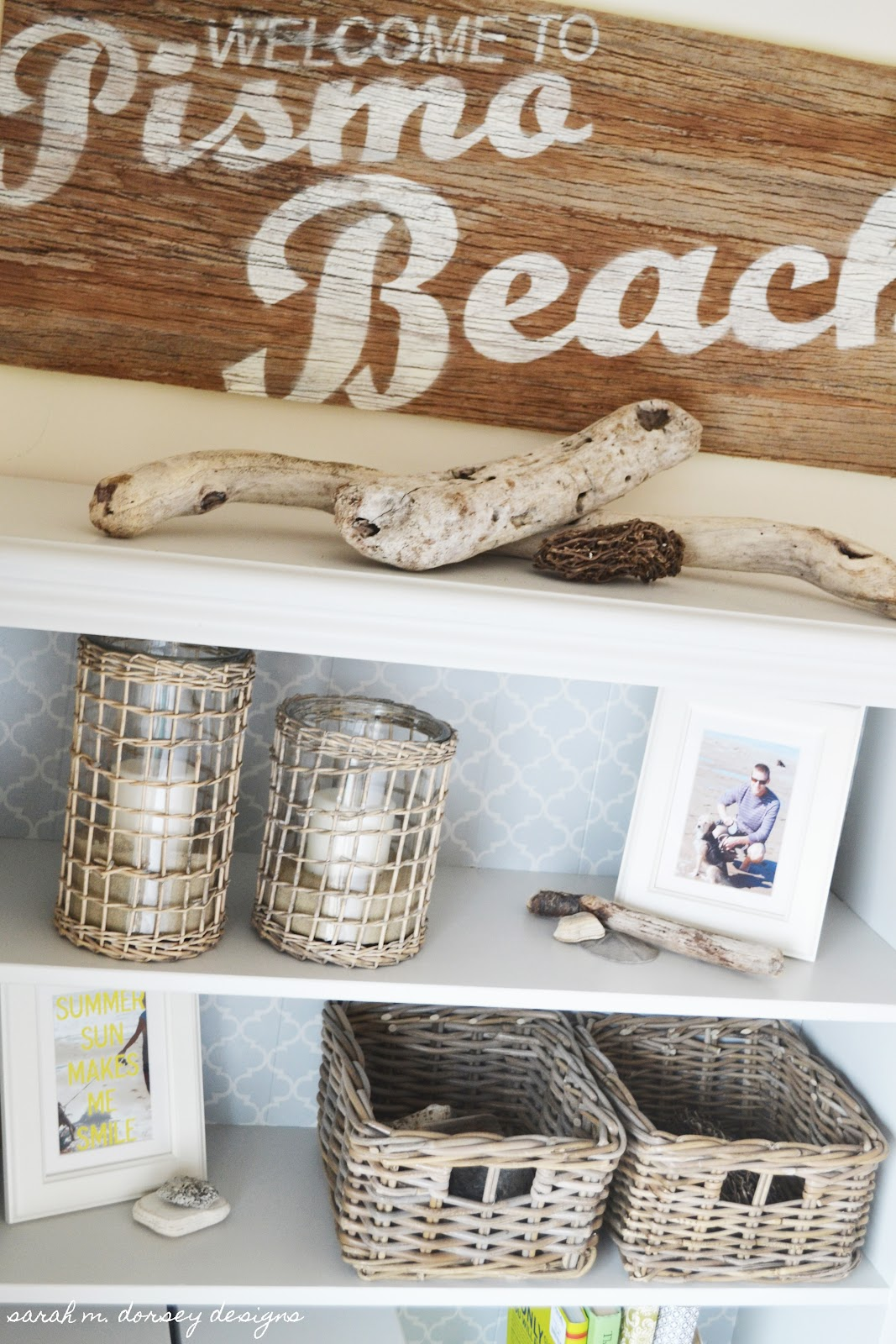 Summer Beach Themed Bookshelf