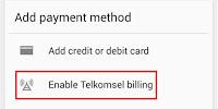 Pulsa Telkomsel Bisa untuk membeli Aplikasi Android mudah, goldlink