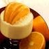 Postre de crema helada de Naranja