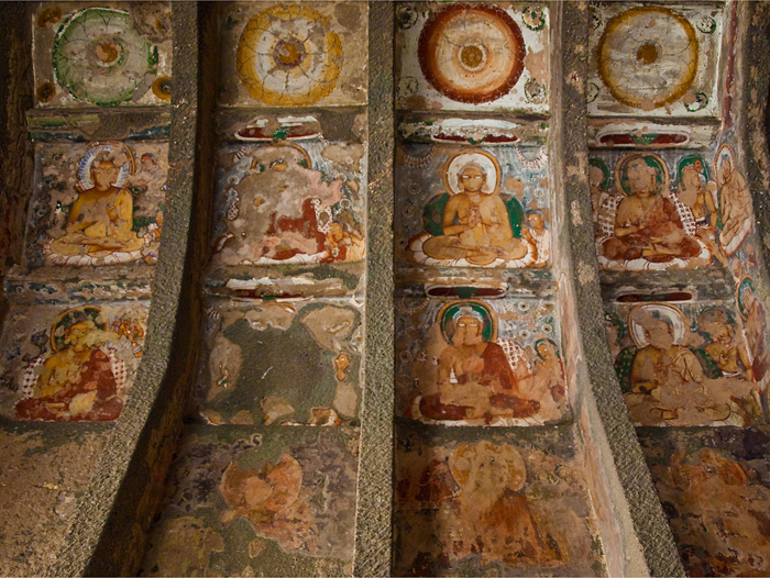 Lostpastremembered india s sublime ajanta and ellora for Ajanta mural painting