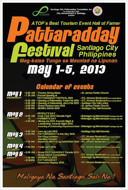Pattaradday Festival 2013 Schedule of Activities