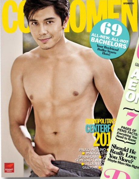 Paulo Avelino shirtless and hot on Cosmomen 2012 Cover