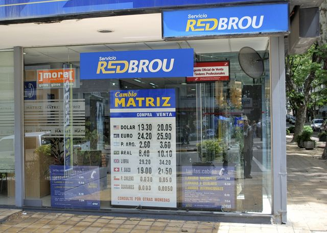 A RED BROU currency changing shop.