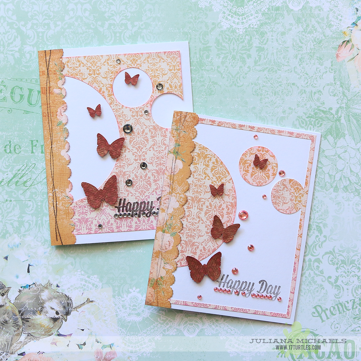Creating Cards With Paper Scraps & A Digital Cut File by Juliana Michaels featuring BoBunny Madeleine