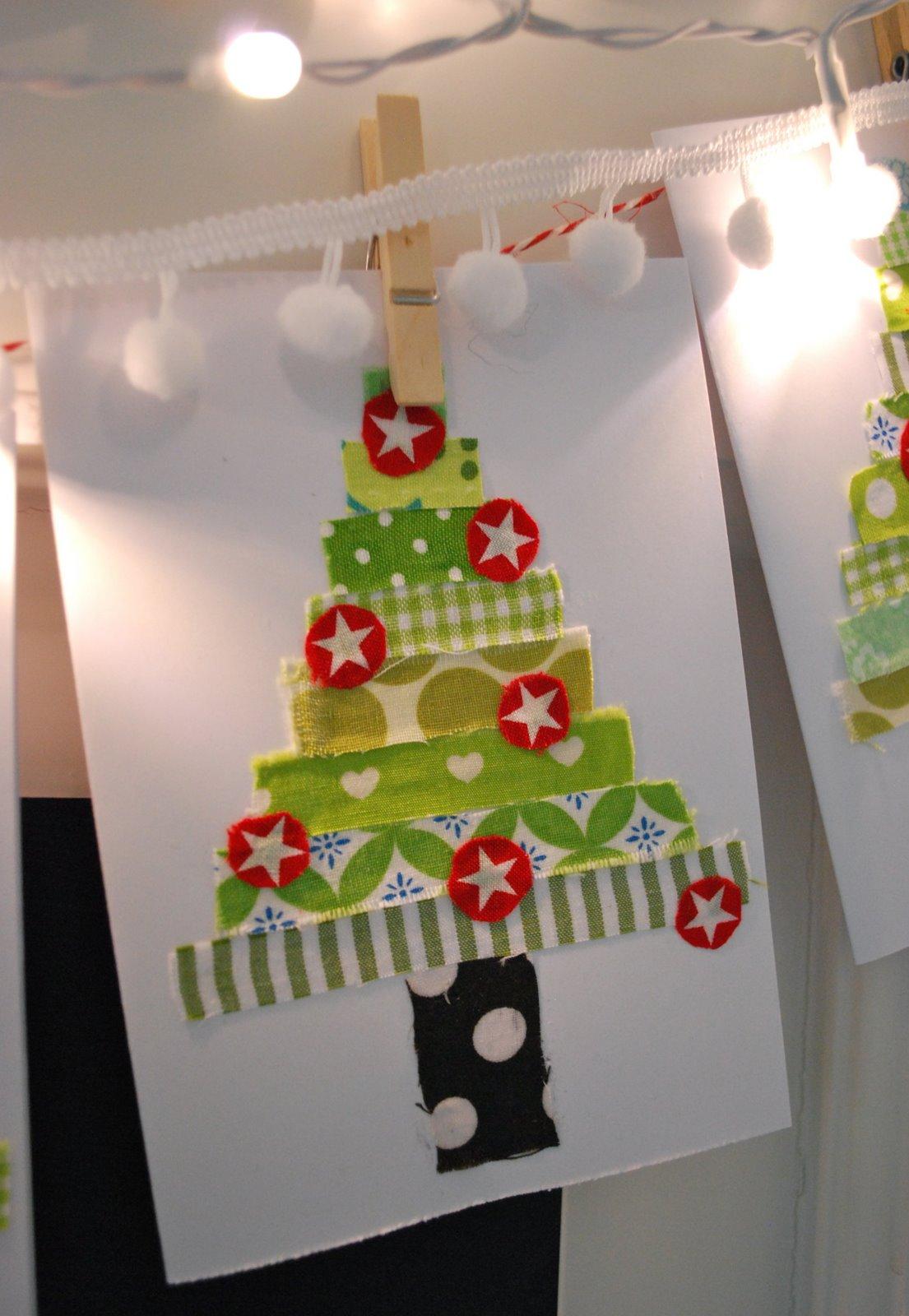 Mamas kram weihnachtskarten for Weihnachtskarten mit kindern basteln
