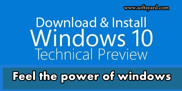 Windows 10 Technical Preview Direct Download with key