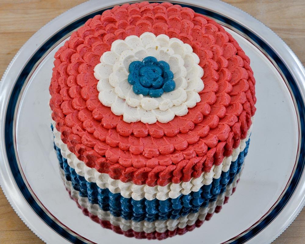 Beki Cooks Cake Blog Red White And Blue Cake Banana Split Cake
