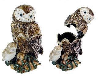 Trinket Jewelry Box, Owl Mommy & Me