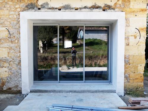 R habilitation d 39 une maison de ville baurech for Cuisine ouverte baie vitree