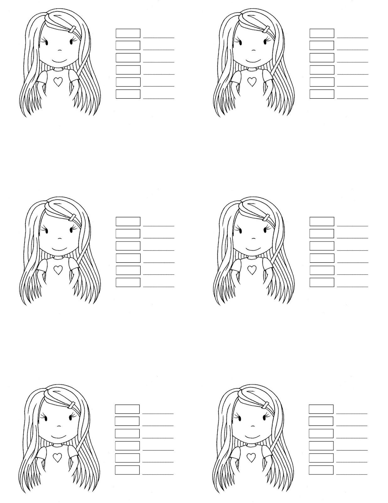 Paper Nest Dolls: Copic Hair Color 1...