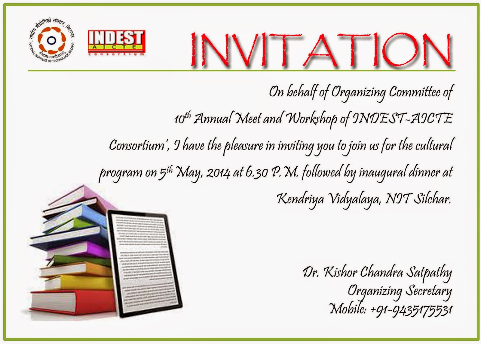 10th annual meet and workshop of indest aicte consortiumnit invitation for indest 2014 stopboris