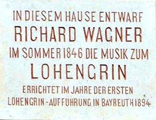 Tafel am Lohengrinhaus