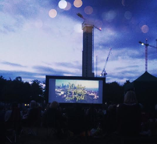 london popup screens outdoor cinema cute summer 10 things i hate about you