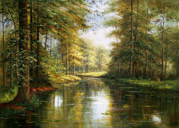 art landscape oil painting by unknown