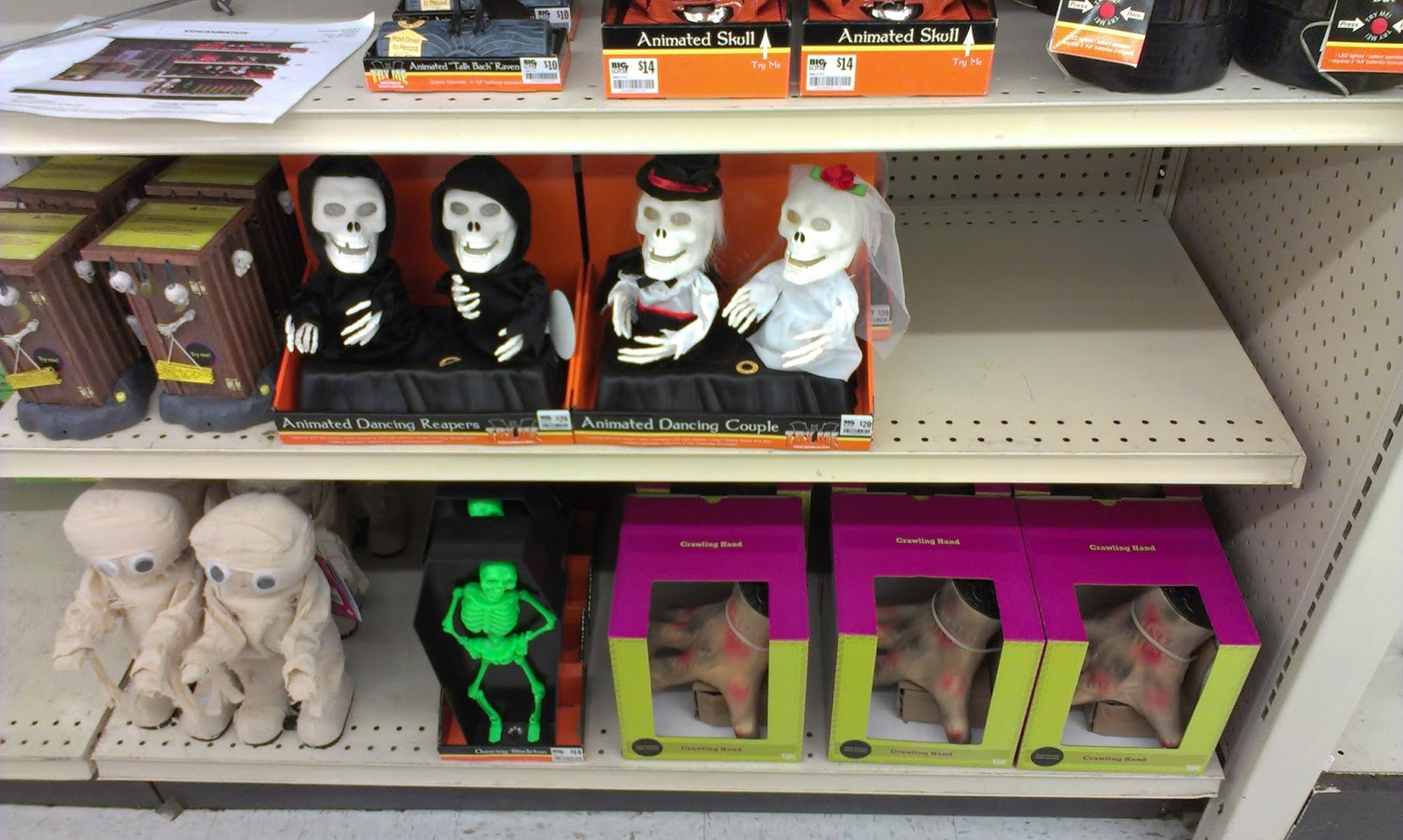 See Some The Stores New 2013 Halloween Products While They Were Still Busy Getting Everything Out Seemed To Have A Majority Of It On Shelves