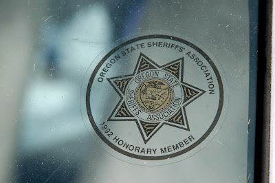 Oregon State Sheriff's Association 1992 Honorary Member sticker