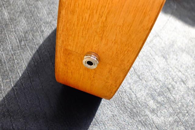 Pono MB-e Baritone ukulele jack socket