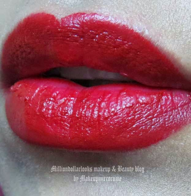 Revlon Colorburst Matte Balm 250 Standout Review, Pictures, Swatch & LOTD, Revlon colorburst matte balm shades and swatches, Revlon colorburst matee balm review, Revlon Colorburst range review, Drugstore makeup brands, Best revlon makeup products, Red lipcolor, Red lips, Long wearing red lipcolor, Long wearing lip colors, Burnt red lipsticks, Winter makeup trends, Milliondollarlooks makeup and beauty blog by Makeupmirrornme, Indian makeup and beauty blog, Indian makeup blogger, Indian beauty blogger