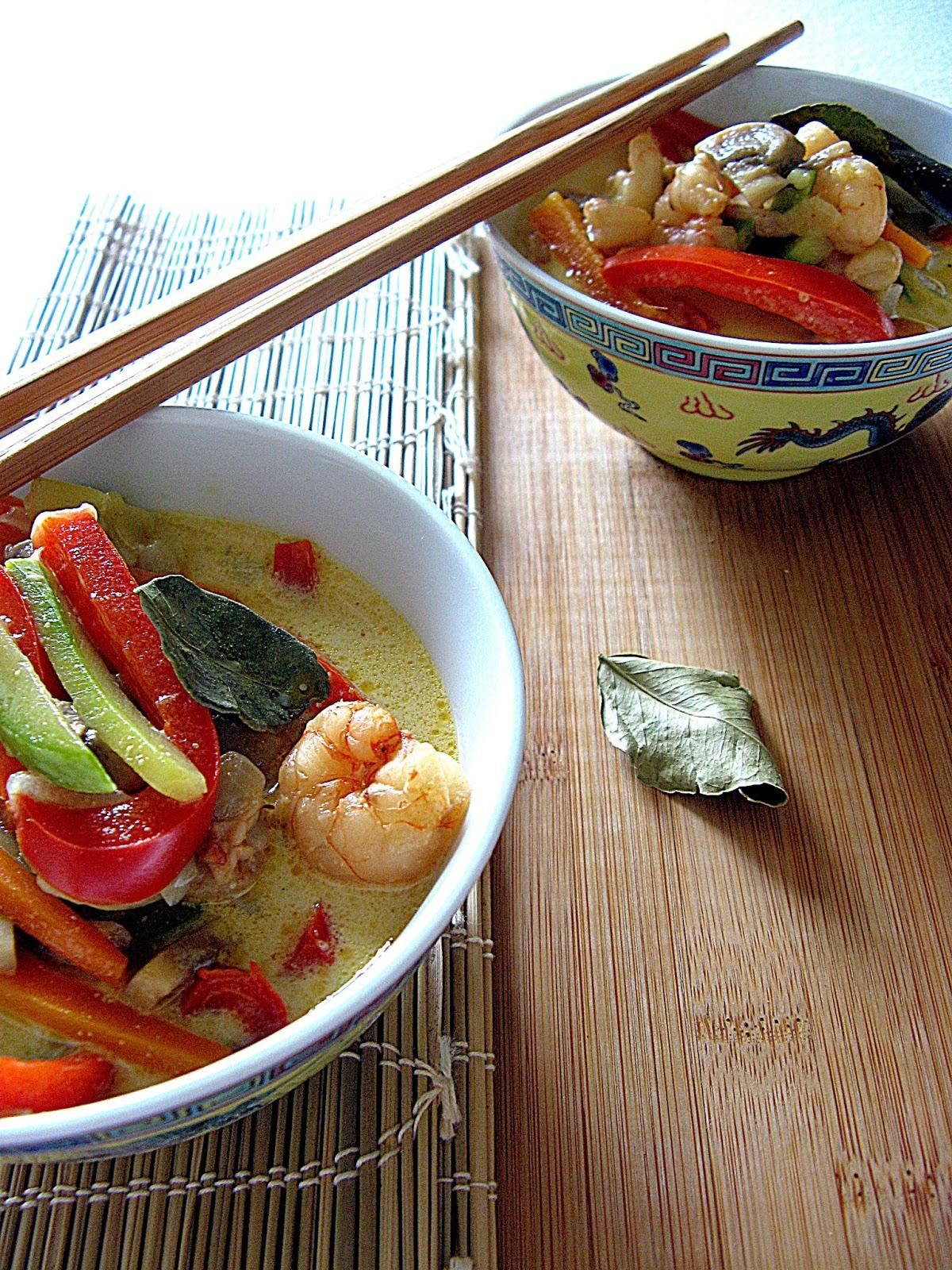 curry thai di gamberi
