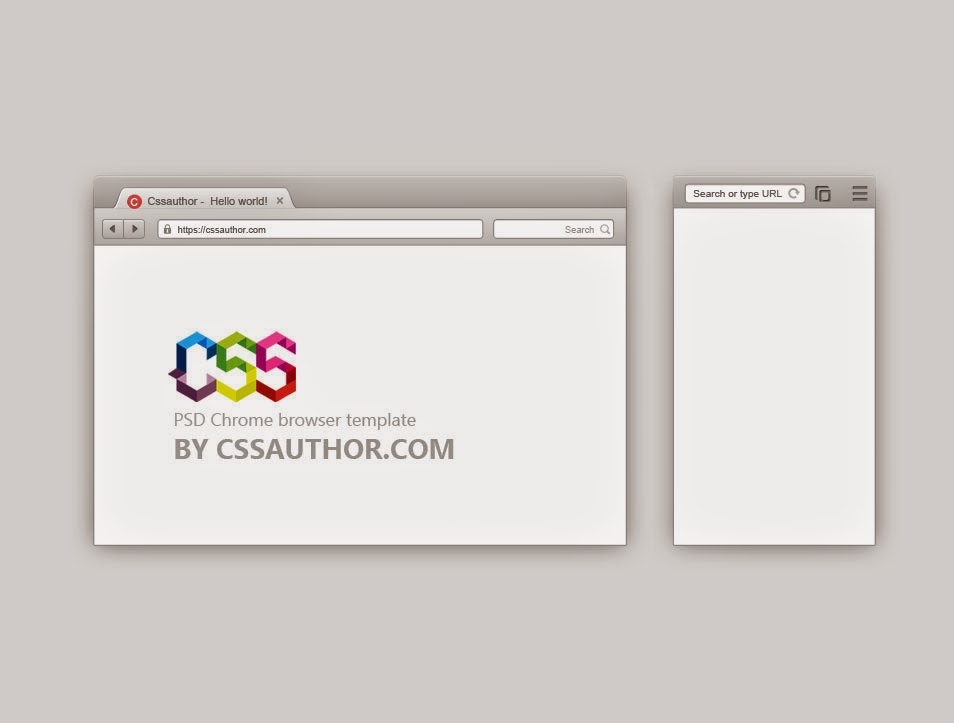 Free PSD Chrome Browser Template