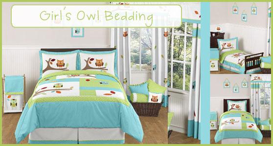 Owl Bedding for Girls