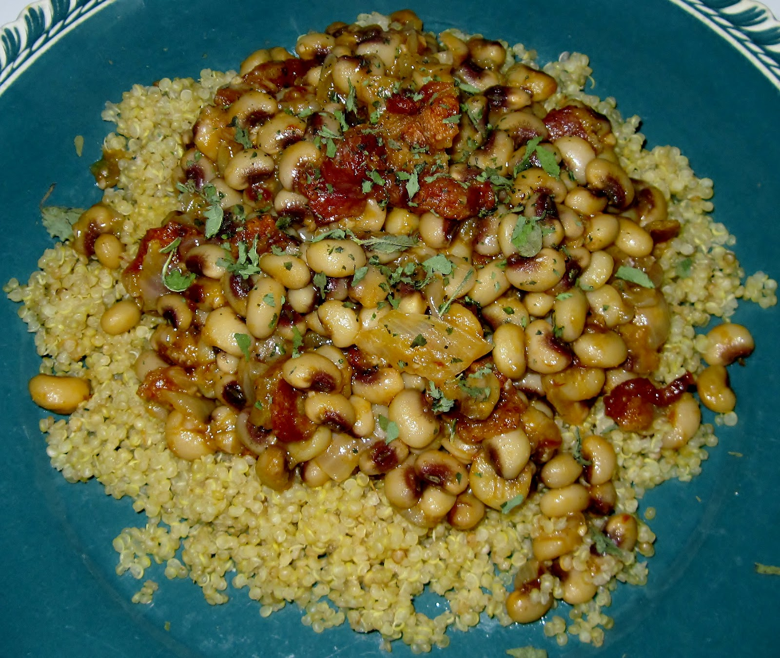 Smoky Spiced Black-Eyed Peas With Bacon Recipes — Dishmaps