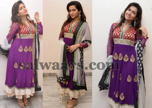 Nayana Purple Silk Salwar